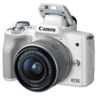 Adorama Canon EOS M50 Mirrorless Camera with 15-45mm STM Lens, White 2681C011