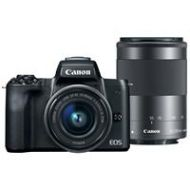 Adorama Canon EOS M50 Mirrorless Camera, EF-M 15-45mm & 55-200mm IS STM Lenses, Black 2680C021