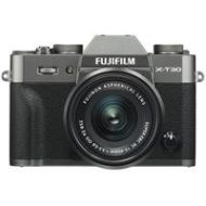 Adorama Fujifilm X-T30 Camera with XC 15-45mm f/3.5-5.6 OIS PZ Lens - Charcoal Silver 16619346