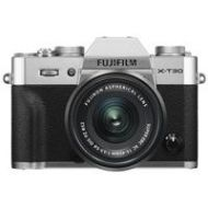 Adorama Fujifilm X-T30 Mirrorless Camera with XC 15-45mm f/3.5-5.6 OIS PZ Lens - Silver 16619061