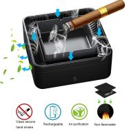 FridCy Ashtray Air Purifier, High Pressure Negative Ion Air Purifier, USB Rechargeable Smokeless Ashtray Air Purifier, Aroma Purifier, Can Be Used for Home/Office/Car Air Purifiers