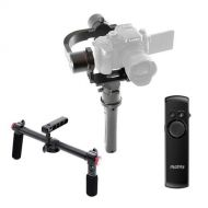 Pilotfly H2 3-Axis Handheld Gimbal Stabilizer for Mirrorless and DSLR Cameras, - Bundle With Pilotfly 2-Hand Holder for H2 and T1 Camera Gimbals, Pilotfly RM-1 Wireless Remote Cont